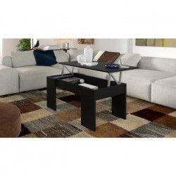 SWING Table basse relevable style contemporain noir mat - L 100 x l 50 cm