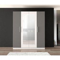 FINLANDEK Armoire de chambre PEHMEÄ style contemporain blanc et gris - L 180,3 cm