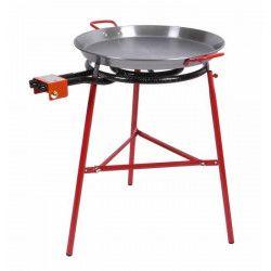 SOMAGIC Barbecue a gaz 1 brûleur pour paëlla Alicante - Acier - 77x71x86 cm - Rouge et gris