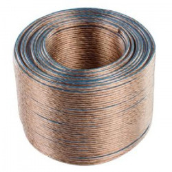 VALUELINE LSP-050RLC Câble haut-parleur en bobine - 2x 1.50 mm² - 100 m - Transparent