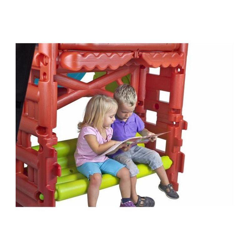 feber maison des bois pour enfant aire de jeux avec. Black Bedroom Furniture Sets. Home Design Ideas