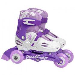 STAMP Rollers Fille Violet Triskate 2 en 1 Girl Ajustables 27 a 30