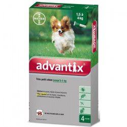 ADVANTIX 4 pipettes antiparasitaires - Pour tres petit chien de 1,5 a 4kg