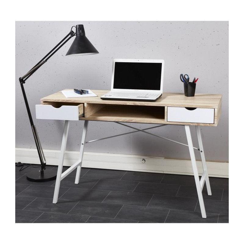stern bureau scandinave d cor chene clair et blanc. Black Bedroom Furniture Sets. Home Design Ideas