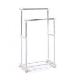 WEAR Portant double blanc 80x43x160 cm en chrome et plastique