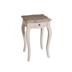Table de chevet baroque beige H39cm ODYSSEE