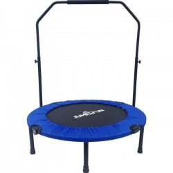 Mini Trampoline Fitness Jump4fun Double-Bar Pliable 92cm bleu