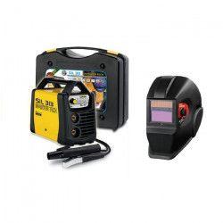 DECA Poste a souder Inverter 130 A SIL 313 avec cagoule LCD DIN11 et 20 électrodes