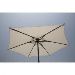 FINLANDEK Parasol droit en acier 2m - Blanc - AURINKO