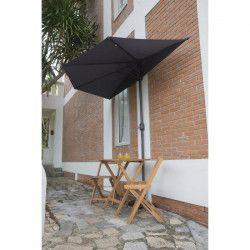 Parasol de balcon en métal - Gris