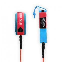 ARI`INUI Leash spirale Genou - Ø 9 mm - Rouge et Bleu