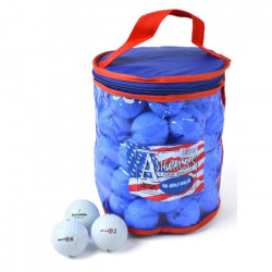 SECOND CHANCE Lot de 50 Balles de Golf Bridgestone Mix - Blanc