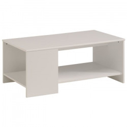 ESSENTIELLE Table basse style contemporain blanc - L 98 cm