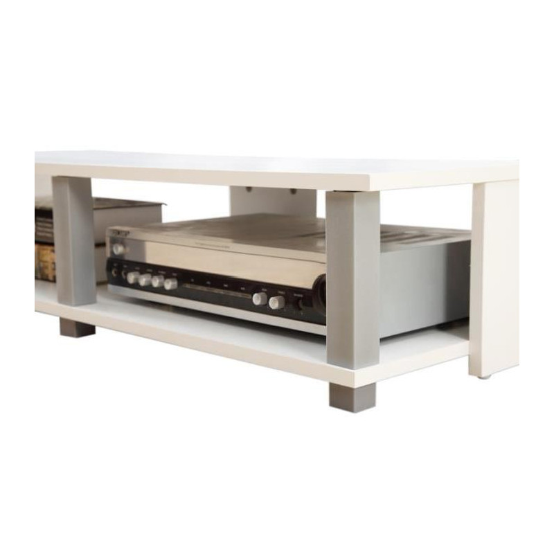 Tivoli meuble tv contemporain d cor blanc l 100 cm - Meuble tv 100 cm ...