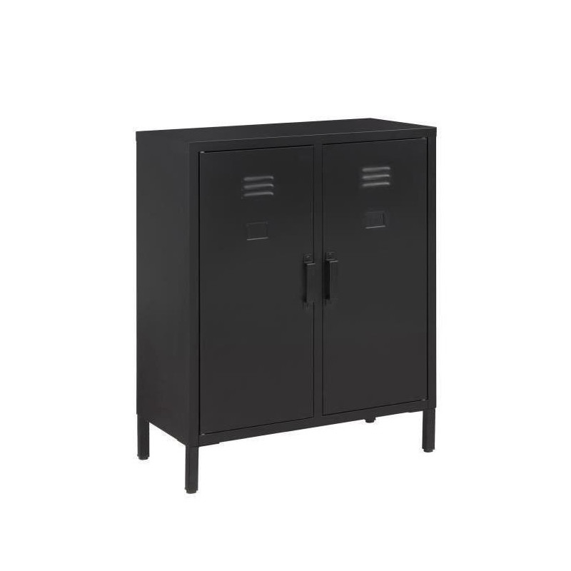 Camden meuble de rangement industriel noir laqu l for Meuble de rangement industriel