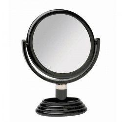 GERSON Miroir sur pied grossissant - Noir - Ø 17 cm - H27 cm