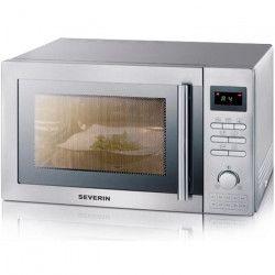 SEVERIN MW 7868 micro-ondes combiné inox brossé - 25 L - 900 W - Grill 1400 W - Four chaleur tournante 2400 W -