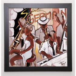 FAREL Image encadrée St Germain 57x57 cm Marron