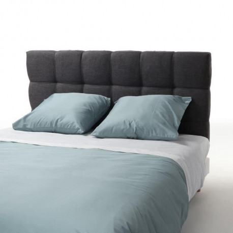 finlandek tete de lit kyn classique tissu gris. Black Bedroom Furniture Sets. Home Design Ideas