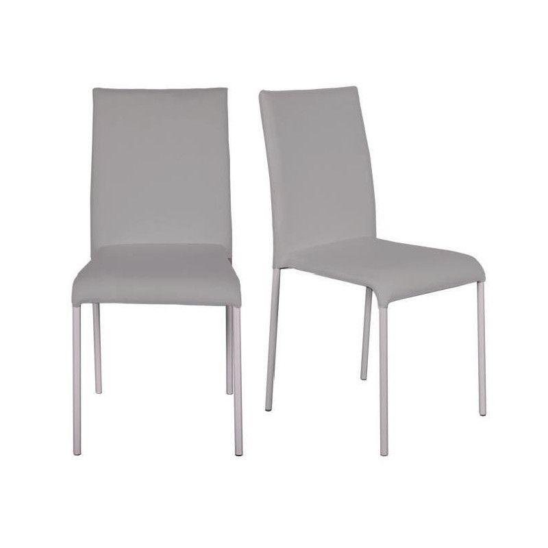 Finlandek lot de 2 chaises de salle a manger en tissu - Chaises de salle a manger de style ...