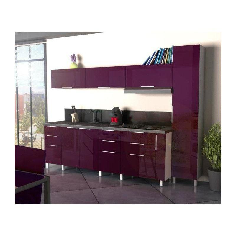 pop meuble bas de cuisine a epices 15 cm aubergine. Black Bedroom Furniture Sets. Home Design Ideas