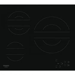 HOTPOINT HR 613 C T CM - Table de cuisson vitrocéramique - 3 zones - 5700 W - L 58 x P 51 cm - Noir