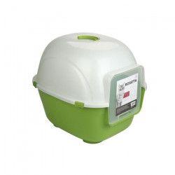MPETS Maison de toilette Rosetta - Pour chat - 50x42,4x44,5 cm - Verte