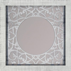 WOOD Miroir design 47x47 cm blanc mat