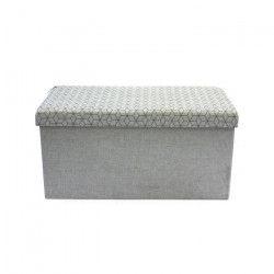 Banc pouf coffre de rangement pliable 76,2x37,5x37,5 cm