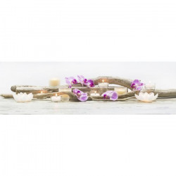 ORCHIDEES Tableau déco sur toile LED 140x45cm