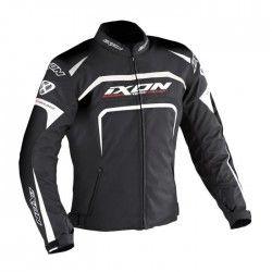 IXON EAGER Blouson Moto Tissu Noir et Blanc