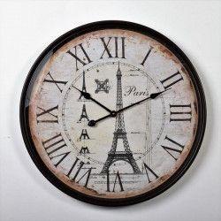 CLOCK Horloge Pendule métal Paris - Ø 68cm