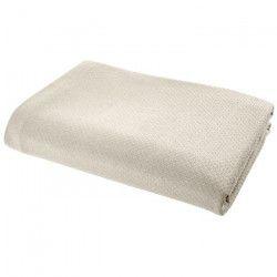 VENT DU SUD Couvre-lit ARTEMIS 100% coton - 250x260 cm - Blanc lin