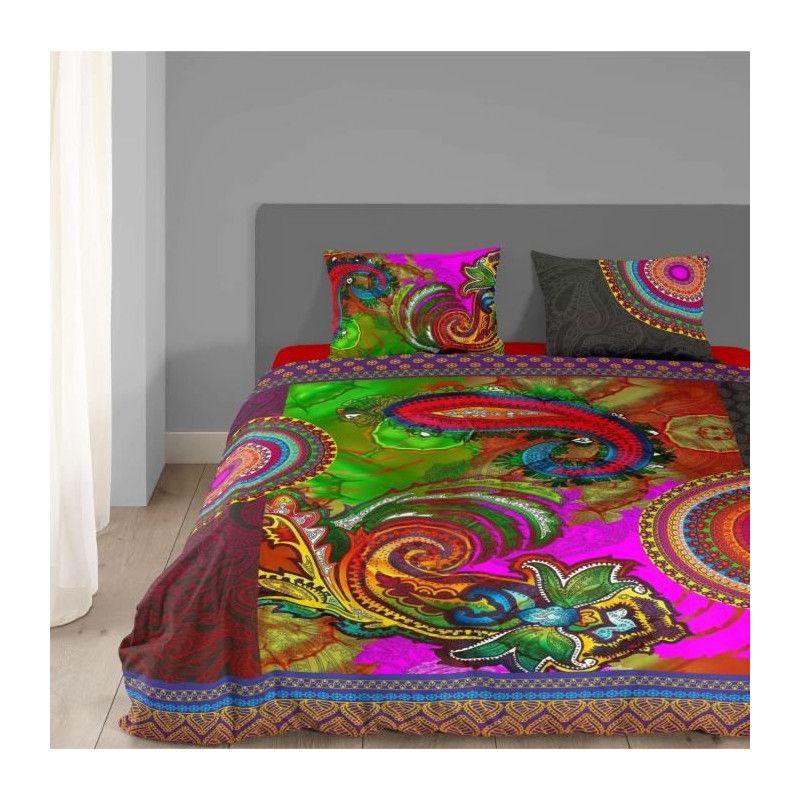hip parure de couette jaipur 100 satin de coton 1. Black Bedroom Furniture Sets. Home Design Ideas