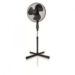 TAURUS Ponent 16C Elegance Ventilateur sur pied Ø40 cm - 40 watts - 3 vitesses - Silencieux - Inclinable - Noir