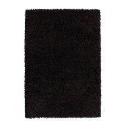 TRENDY Tapis de salon Shaggy en polypropylene - 200x280 cm - Noir