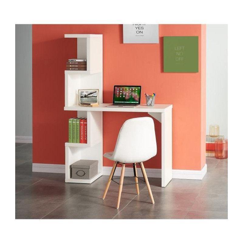 campus bureau asym trique contemporain blanc mat l. Black Bedroom Furniture Sets. Home Design Ideas