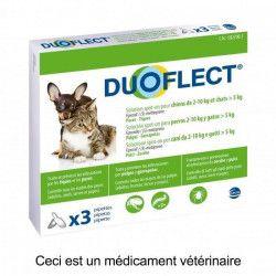 DUOFLECT Antiparasitaire Duoflect - 3 pipettes - Pour chat plus de 5kg et chien de 2 a 10kg