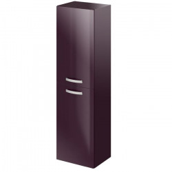 STELLA Colonne de salle de bain L 40 cm - Laqué aubergine brillant