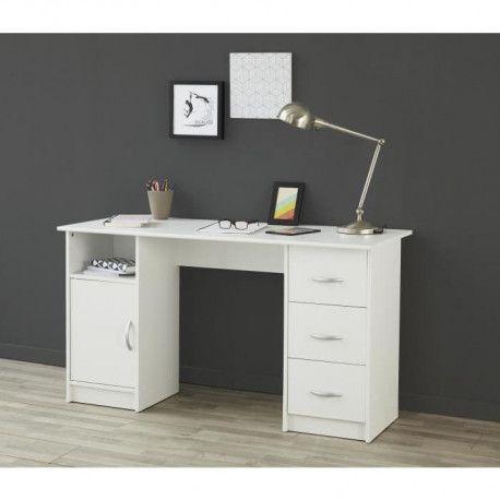 ESSENTIELLE Bureau classique blanc - L 135 cm