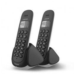 Logicom Aura 255T Duo Téléphone Sans Fil Répondeur Noir