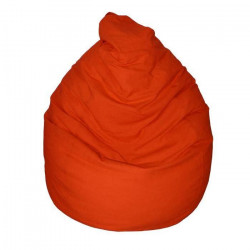 Poire pouf en coton LANA Ø75x110 cm terracotta
