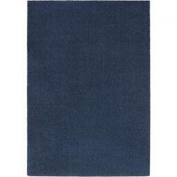 Tapis de salon design Wooly 120x170 cm bleu
