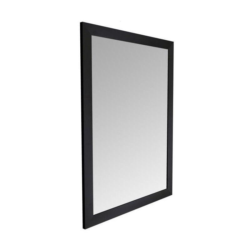 basic miroir rectangulaire 50x70 cm noir. Black Bedroom Furniture Sets. Home Design Ideas