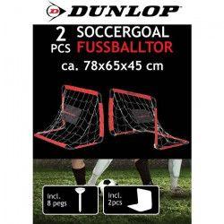 DUNLOP Cage de football - 78 x 65 x 45 cm - Lot de 2