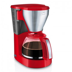 MELITTA 1010-16 Cafetiere filtre Easy Top - Rouge Inox