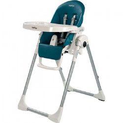 PEG PEREGO Chaise Haute Zero3 - Coloris Bleu Pétrole