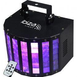 IBIZA LIGHT BUTTERFLY-RC Effet Butterfly a 6 LED couleur avec télécommande