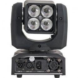 IBIZA LIGHT LMH410Z Lyre mini beam a 4 LED RGBW avec zoom 10-60°- 10W
