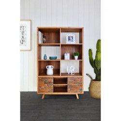 SERENITY Bibliotheque vintage en bois teck massif naturel - L 110 cm